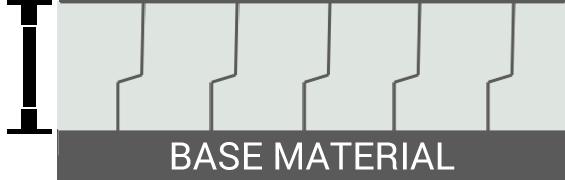 Fig. 1 - Standard Chrome Crack Pattern