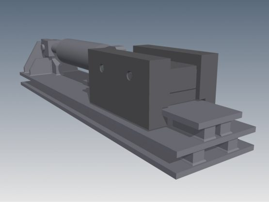 Isometric view of ProGrip Piston Lock skid system.